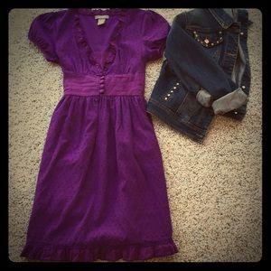 Dresses & Skirts - Purple textured dot dress